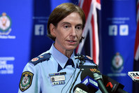 New South Wales (NSW) Police Deputy Commissioner Catherine Burn speaks to the media at a press conference in Sydney, Australia, 22 March 2016. (EPA Photo)