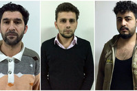 Daesh suspects Muhammet N., İbrahim G.C.Ş. and Ali F were captured by Istanbul police during anti-terror raids. (IHA Photos)