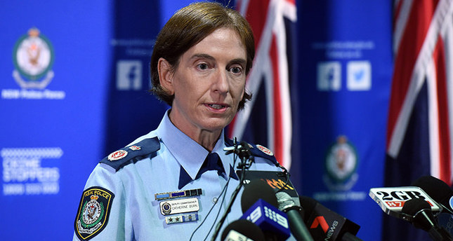 New South Wales NSW Police Deputy Commissioner Catherine Burn speaks to the media at a press conference in Sydney, Australia, 22 March 2016. EPA Photo