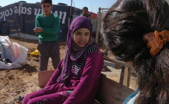 Maynayer, a 15-year-old refugee girl in Lebanon (Photo by Martin Jay)