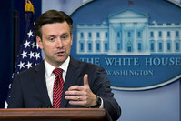 White House spokesman Josh Earnest ruled out Assad's participation in a new government. (REUTERS Photo)