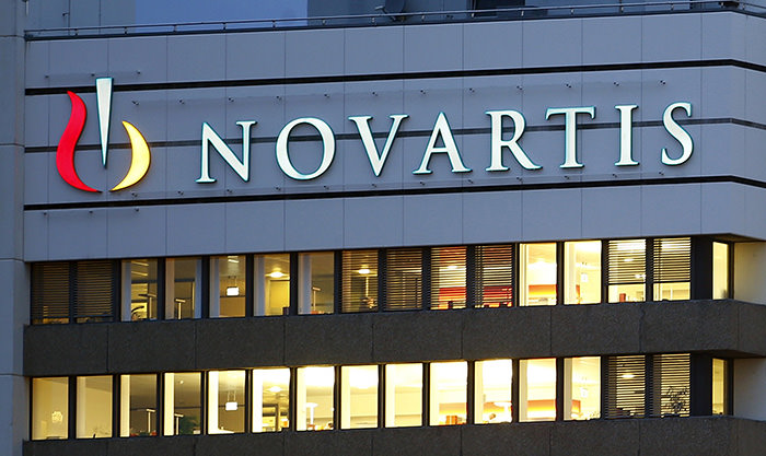 The logo of Swiss drugmaker Novartis is seen at its headquarters in Basel, Switzerland in this October 22, 2013 file photo (Reuters Photo)
