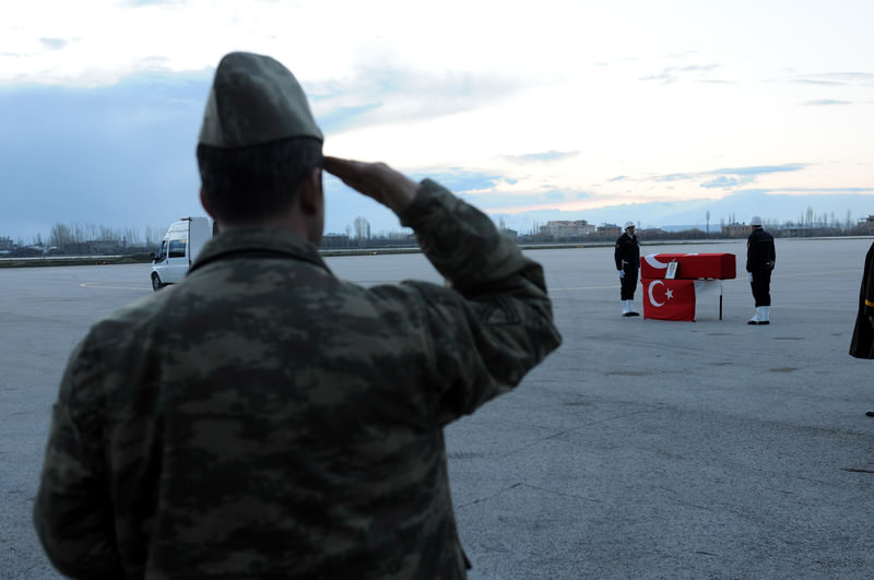 A funeral for police officer u0130dris Polat, who was killed in a PKK operation in Hakkari's Yu00fcksekova district.