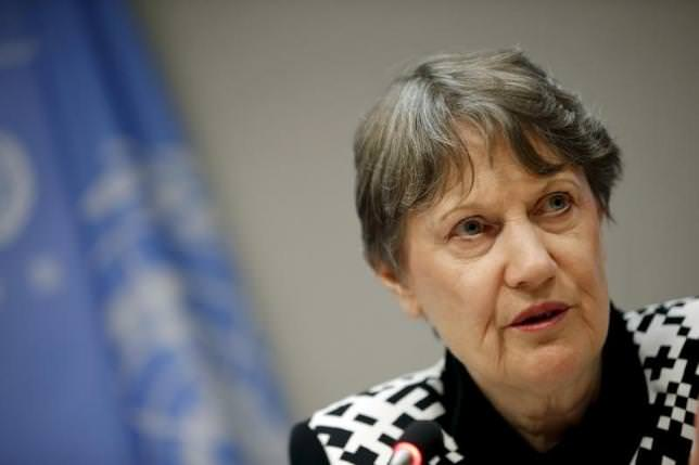 Former New Zealand Prime Minister Helen Clark entered to race to be the next UN Chief. (REUTERS Photo)