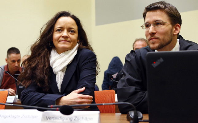 Zschaepe has been on trial since May 2013 as an alleged accomplice in a series of racially motivated murders across Germany by the neo-Nazi National Socialist Underground (NSU).