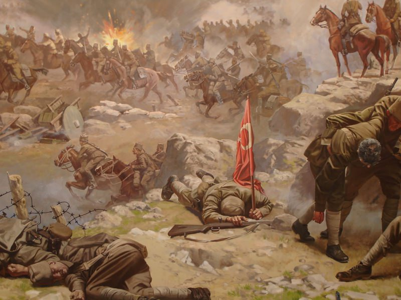 The picture depicts the Turkish War of Independence.(FILE Photo)