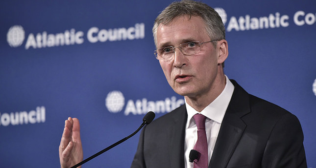 NATO Secretary General Jens Stoltenberg speaks during an Atlantic Council discussion on NATO and stability on April 6, 2016 at a hotel in Washington, DC. AFP Photo