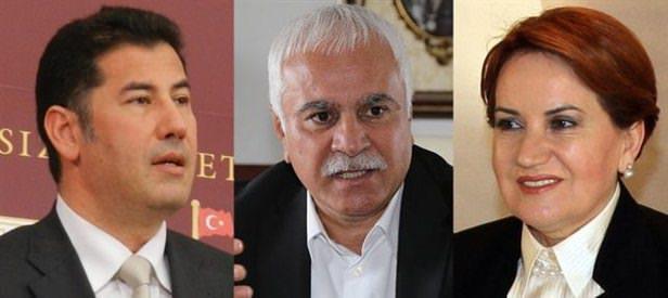 Intra-party dissidents Sinan Oğan, Koray Aydın and Meral Akşener