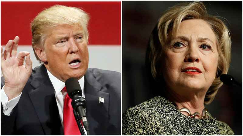 US Presidential candidates are battling high negatives. (AP Photos)