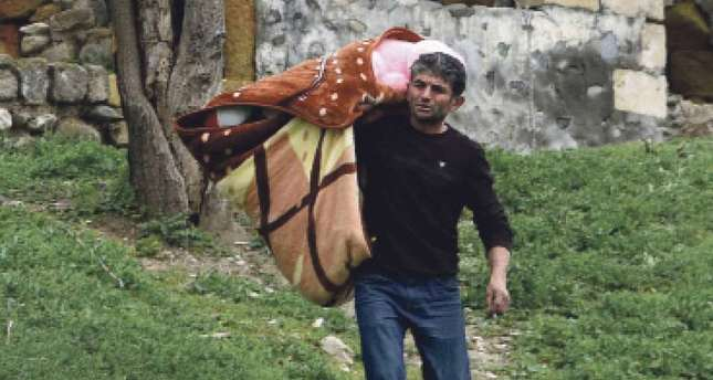 Some residents of the Nagorno-Karabakh region have had to leave their homes due to the clashes.