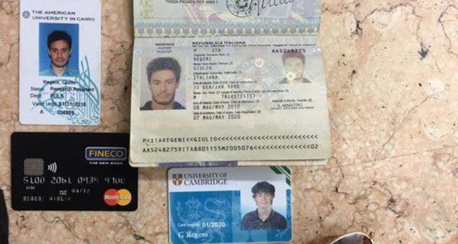 In this photo released by the Egyptian Ministry of Interior on Thursday, Mar. 24, 2016, personal belongings of slain Italian graduate student Giulio Regeni. (AP Photo)
