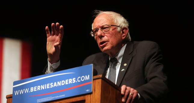 Democratic presidential candidate Sen. Bernie Sanders, I-Vt., speaks to supporters during a campaign rally Tuesday evening on April 5, 2016, in Laramie, Wyo. (AP Photo)
