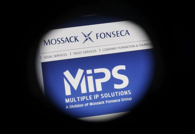 The website of the Mossack Fonseca law firm is pictured through a large format lens in Bad Honnef, Germany April 4, 2016. (REUTERS Photo)