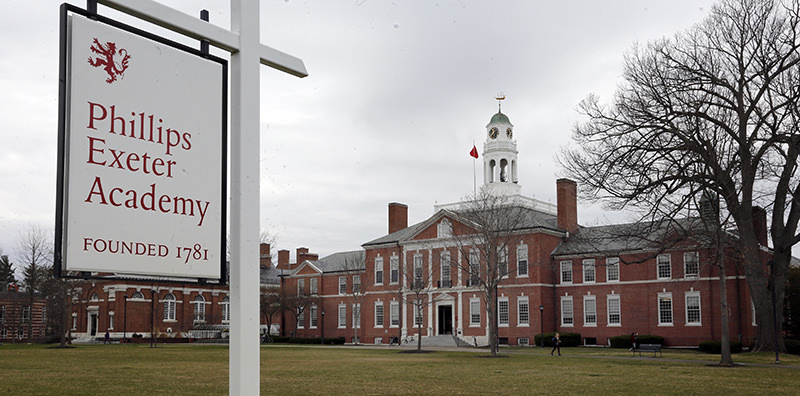 Part of the campus of the prestigious Phillips Exeter Academy is seen Monday, April 11, 2016, in Exeter, N.H. (AP Photo)