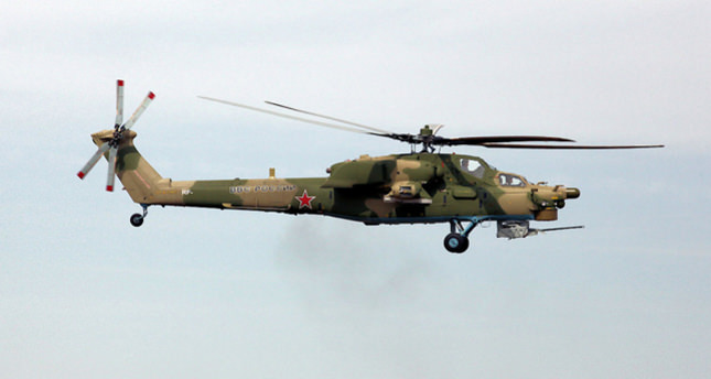 Russia's attack helicopter crashes in Syria, two pilots killed