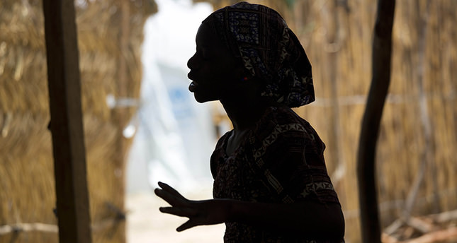 This 15-year-old girl was abducted by Boko Haram and was later freed by Cameroon's army (AFP Photo)