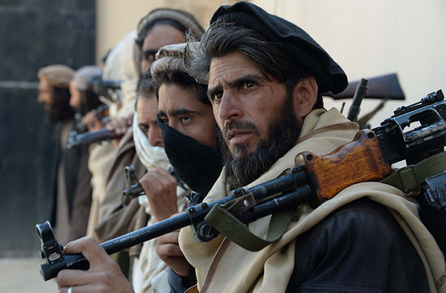 File photo February 24, 2016, shows former Afghan Taliban fighters in Jalalabad. (AFP Photo)
