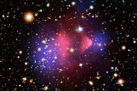 A composite x-ray image shows the galaxy cluster 1E 0657-56, also known as the 'Bullet Cluster.' (REUTERS Photo)