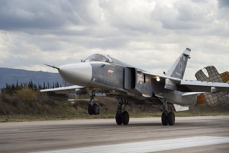 Russian Su-24 attack planes buzzed a U.S. Navy destroyer in the Baltic Sea multiple times on Monday, April 11, 2016, and Tuesday, April 12, 2016. (AP Photo)