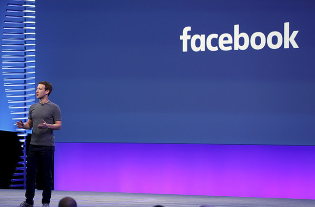 Facebook CEO Mark Zuckerberg speaks on stage during the Facebook F8 conference in San Francisco, California April 12, 2016 (Reuters Photo)
