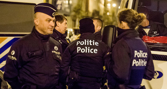 Belgian police are seen during a search in Anderlecht district in Brussels after 3 men were arrested this afternoon, in Brussels, Belgium, 08 April 2016. (EPA Photo)