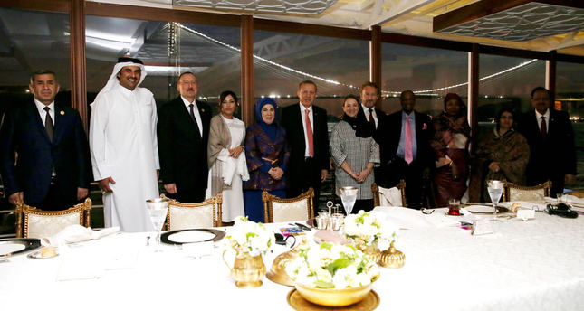 Erdoğan hosts dinner for leaders of OIC member countries in presidential yacht Savarona