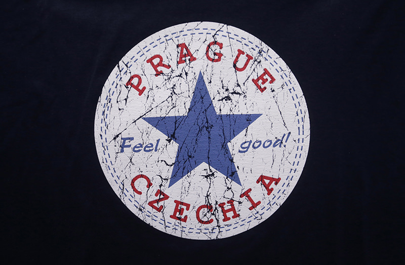 A sign with the word ,Czechia, is printed on a t-shirt displayed in a store in Prague, Czech Republic, Thursday, April 14, 2016. (AP Photo)