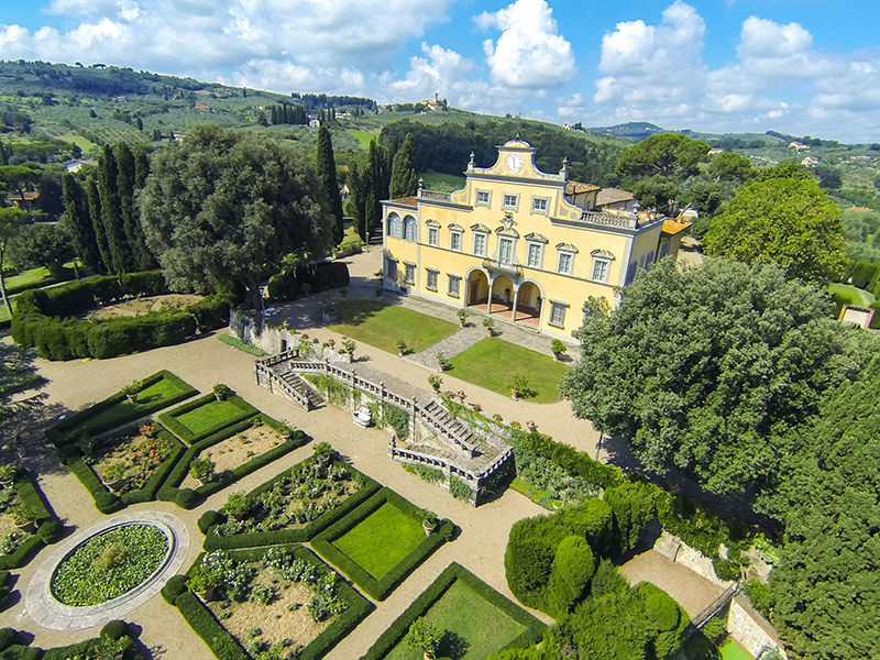 An handout picture taken on July 27, 2014 and provided by the Lionard Luxury Press Office shows an aerial view of the historic Tuscan Villa Antinori. (AFP Photo)