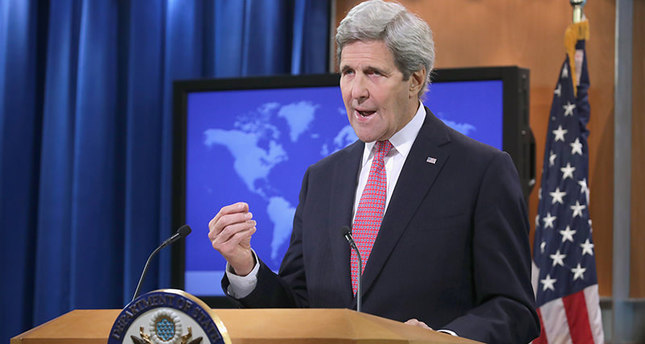 U.S. Secretary of State John Kerry delivers remarks about the release of the 2015 Human Rights Report. (AFP Photo)