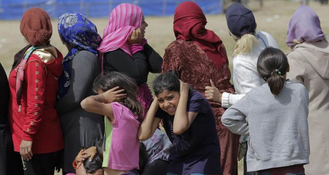 Refugees who fled wars and airstrikes were visibly shaken when fighter jets flew over them at a makeshift refugee camp in Idomeni, Greece on Thursday. Europe saw a rise in anti-migrant sentiment since the migrants began flocking to the continent.