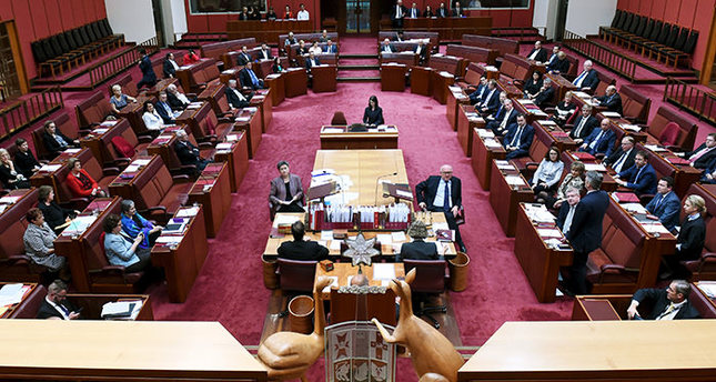 Australian Senate at Parliament House in Canberra, Australia, March 18, 2016 (Reuters Photo)