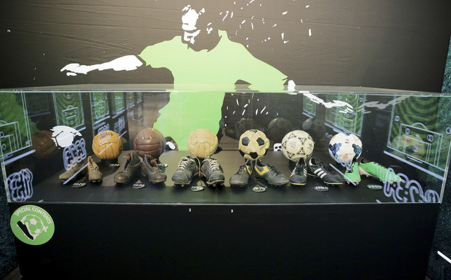 Sports memorabilia, original football items on display at 'Goal' exhibition