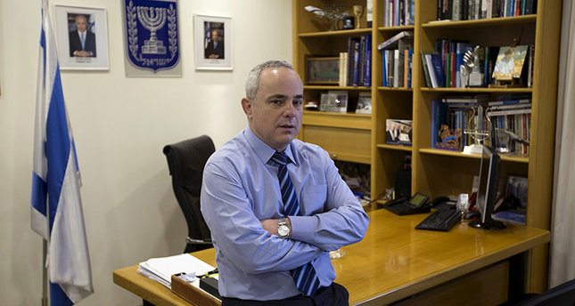 Israel's then Finance Minister Yuval Steinitz poses for a picture in his office in Jerusalem, in this January 2, 2013 file picture. (Reuters Photo)