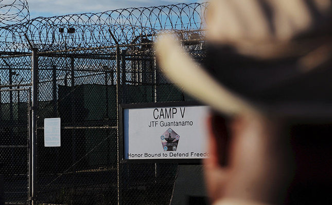The outside of the Camp Five detention facility is seen at U.S. Naval Station Guantanamo Bay December 10, 2008 in this pool image reviewed by the U.S. military. (Reuters Photo)
