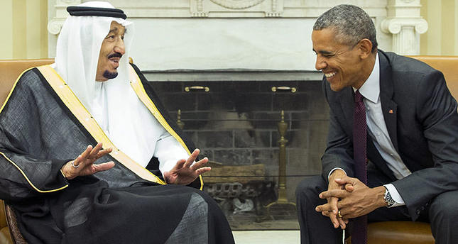 US President Barack Obama, right, meets with King Salman of Saudi Arabia in the Oval Office of the White House, on Friday, Sept. 4, 2015 AP
