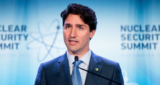 In this April 1, 2016, file photo, Canada Prime Minister Justin Trudeau speaks at a briefing at the Nuclear Security Summit in Washington. (AP Photo)
