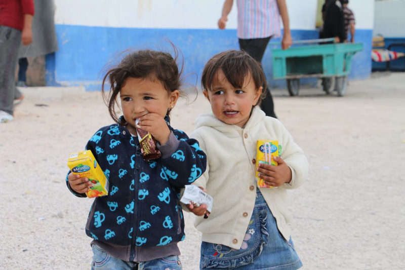 Syrian children from Tal Abyad fled from PYD atrocities and took shelter in Turkey.