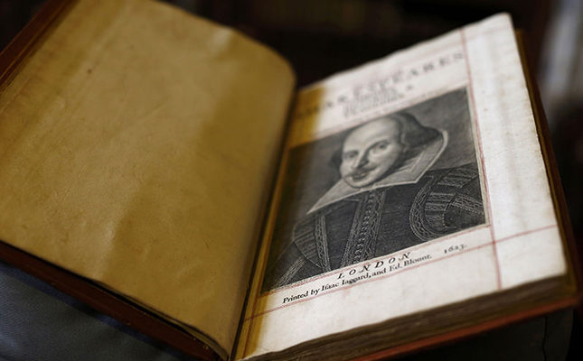 A Shakespeare First Folio discovered nearly 400 years after his death is displayed at Mount Stuart, Isle of Bute, Scotland, Britain April 7, 2016 (Reuters Photo)