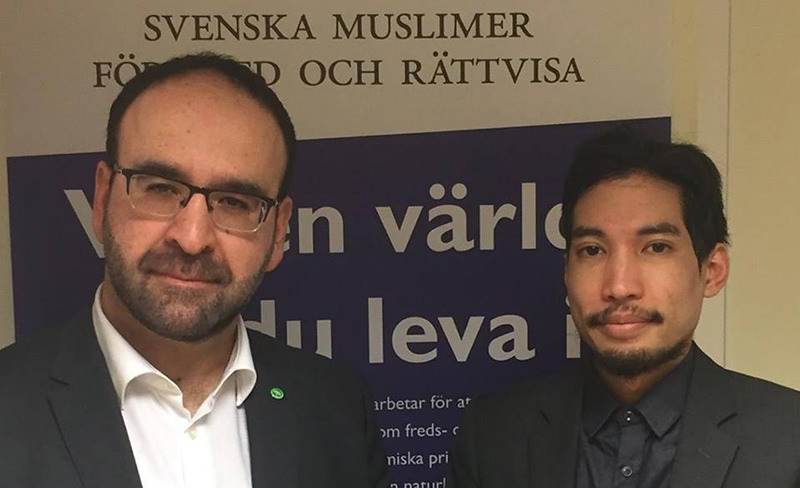 Swedish Green Party politician Yasri Khan (right) (AA Photo)