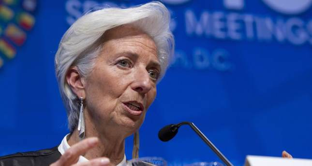 IMF head takes to Twitter, addresses refugee crisis