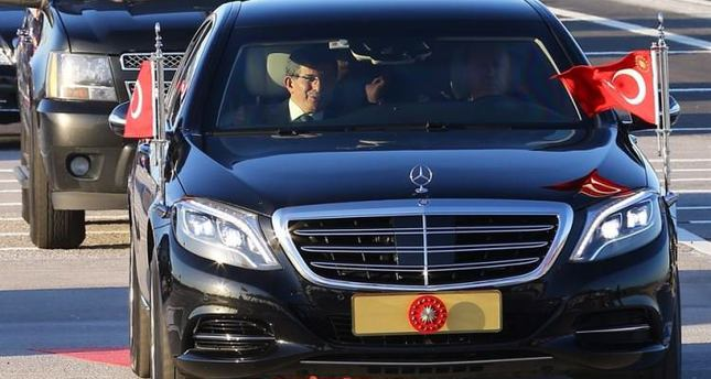 Erdoğan, Davutoğlu take first ride on newly completed Osman Gazi Bridge