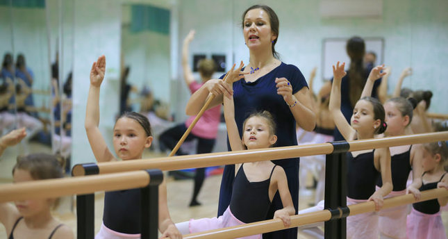 Russian-Turkish child ballerinas perform together at EXPO Antalya