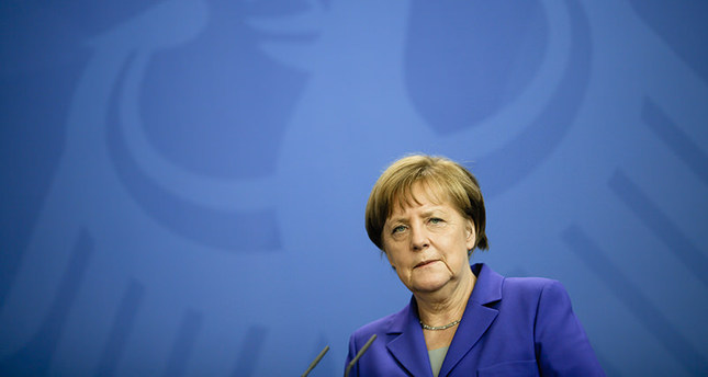 German Chancellor Angela Merkel attends a news conference with Lithuanian President Dalia Grybauskaite. (AP Photo)