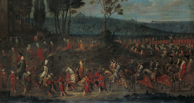 Embassies in Pera became a central subject in 18th century Orientalist painting, seen as part of a European-style social life.