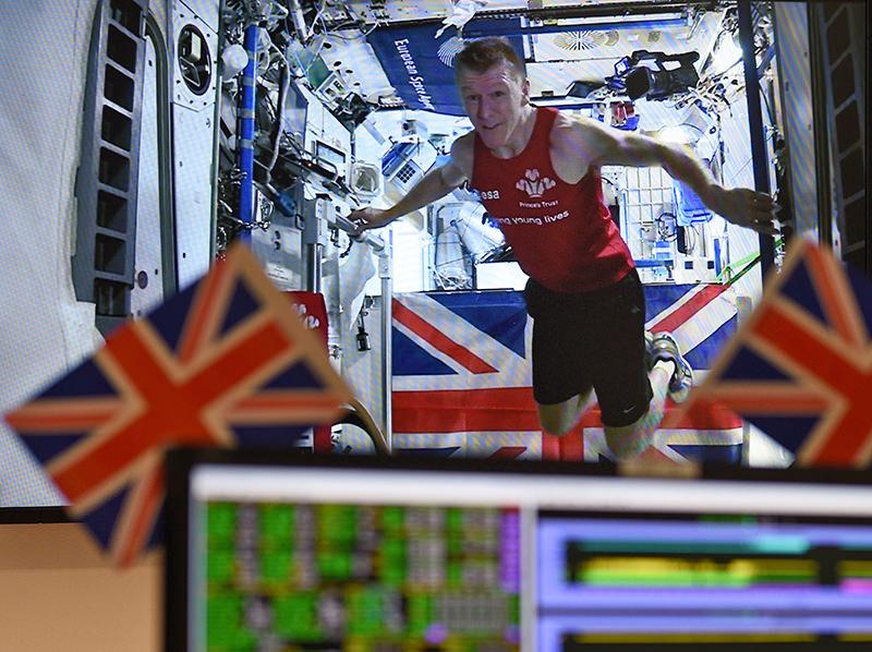Peake ran a 42 kilometre marathon on a tread mill in space onboard the (ISS). (AP Photo)