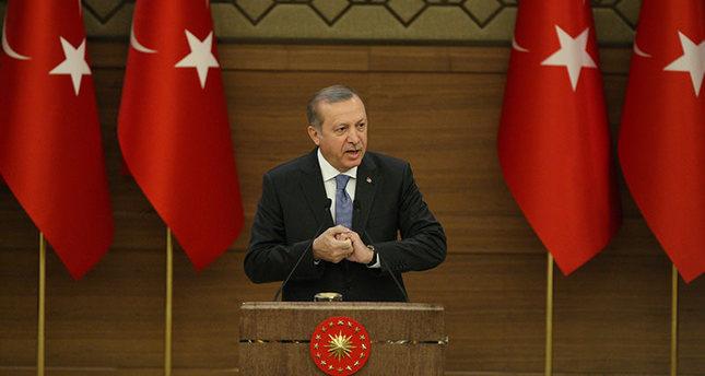 President Erdoğan addresses local headmen at the Presidential Complex in Ankara, April 19, 2016. (Photo: Sabah / Ali Ekeyılmaz)