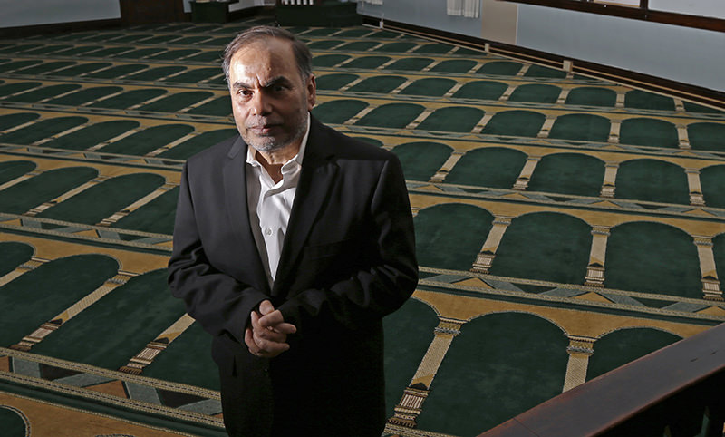 In this April 12, 2016 photo, Amjad Bhatti, president of the Islamic Society of Greater Worcester, poses inside the mosque in Worcester, Mass. (AP Photo)