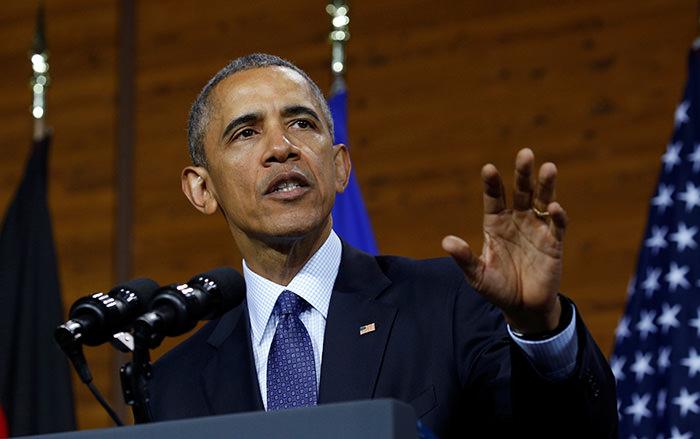 U.S. President Barack Obama speaks during his visit to Hanover, Germany April 25, 2016 (Reuters Photo)