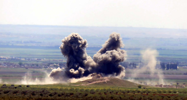 This April 15, 2016 file photo shows a destroyed Daesh position following coalition airstrikes. (DHA Photo)