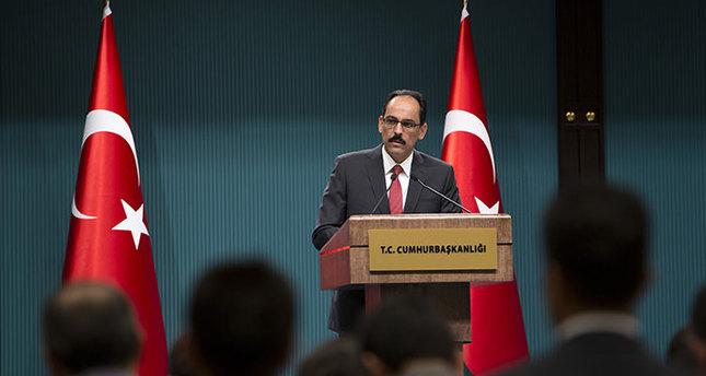 Presidential Spokesperson İbrahim Kalın (AA Photo)